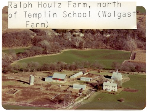 Aerial view of Houtz farm in Wabaunsee County, Kansas - Page
