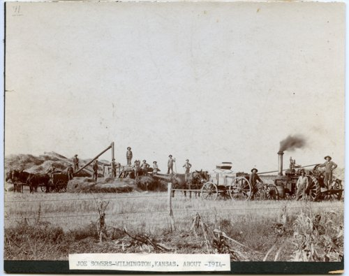 Threshing crew, Wilmington, Kansas - Page