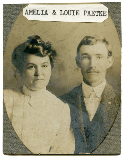 Amelia and Louis Paetke - Page