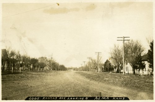 Kansas Avenue looking north, Alma, Kansas - Page