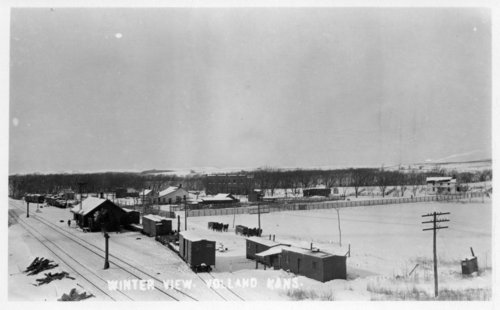 Winter view, Volland, Kansas - Page