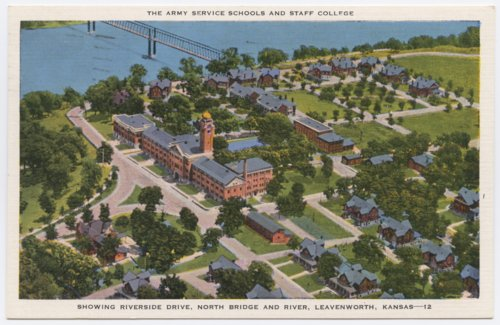Aerial view of the Army Service Schools and Staff College at Fort Leavenworth, Kansas - Page