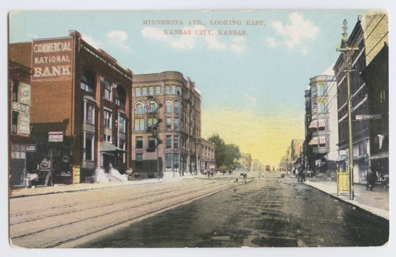 View of Minnesota Avenue, west from 6th Street in Kansas City, Kansas - Page