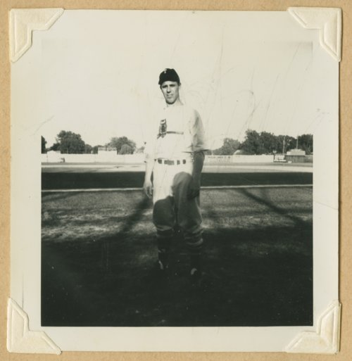Ray McLean of the Topeka Owls baseball team - Page