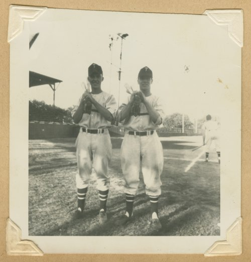 John Bulkley and Doug White of the Topeka Owls baseball team - Page
