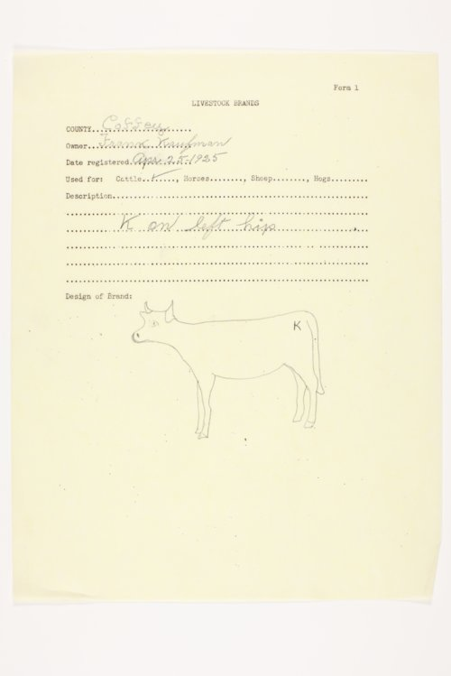 Coffey County livestock brand registrations - Page