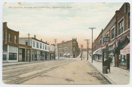 View of the junction of 7th Street and Central Avenue in Kansas City, Kansas - Page