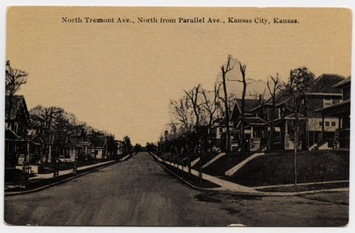 View on North Tremont Avenue, north from Parallel Avenue, Kansas City, Kansas - Page