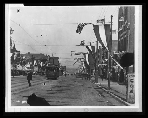A celebration on Minnesota Avenue east from 7th Street, Kansas City, Kansas - Page