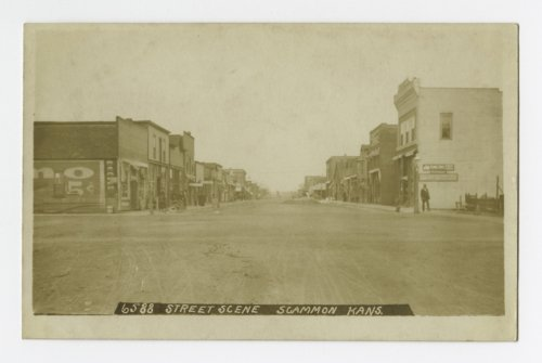 Street scene in Scammon, Kansas - Page