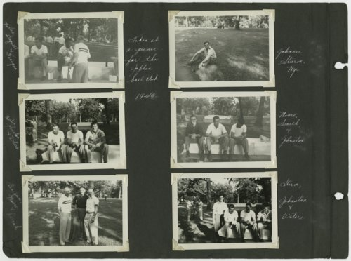 Joplin Miners baseball players at a picnic - Page