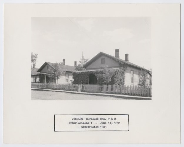 Atchison, Topeka & Santa Fe Railway Company cottages, Winslow, Arizona - Page