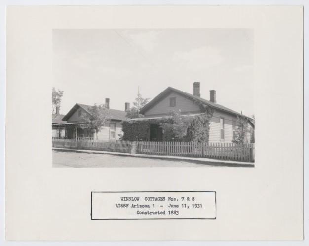 Atchison, Topeka & Santa Fe Railway Company cottages, Winslow, Arizona - Page