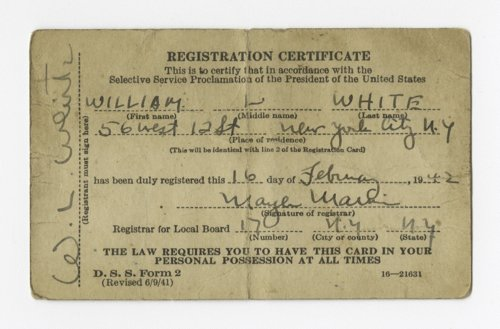 World War II-era draft card - Page
