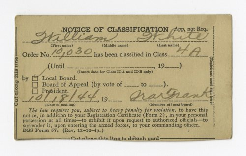 World War II classification card - Page