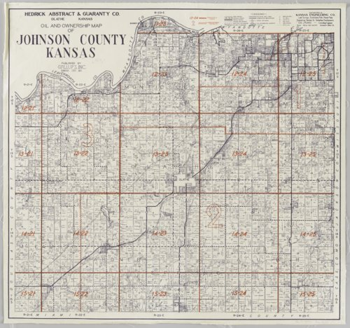 Oil and ownership map of Johnson County, Kansas - Page