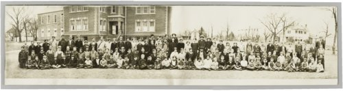 Students and teachers at the public school in Moline, Kansas - Page