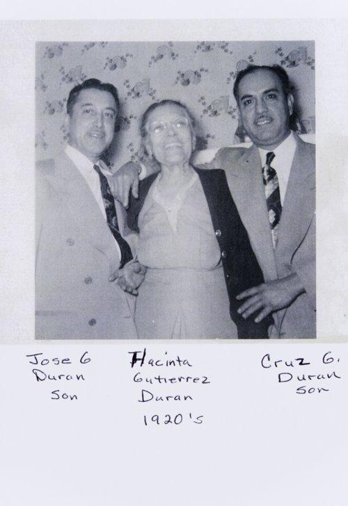 Jose G. Duran, Hacinta Gutierrez Duran, and Cruz Duran - Page
