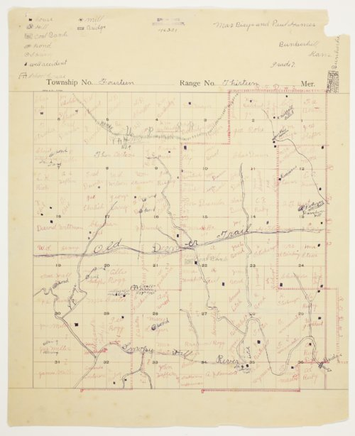 Max Biays and Paul Humes' map of Township 14 South, Range 13 West, Russell County - Page