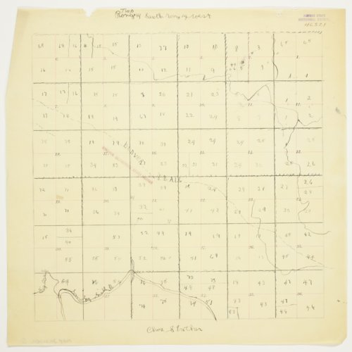 Charles Strecker's map of Township 14 South, Range 14 West, Russell County - Page