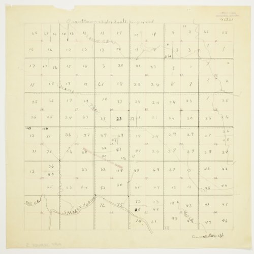Annabelle Delp's map of Township 14 South, Range 14 West, Russell County - Page