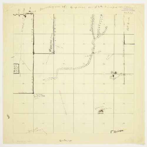 John Week's map of Township 15 South, Range 12 West, Russell County - Page