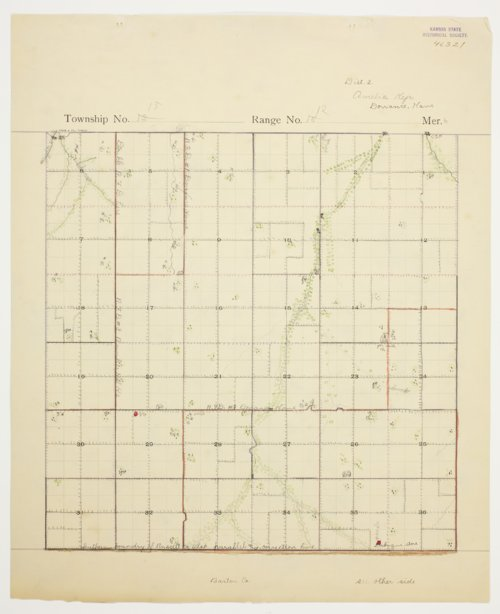 Amelia Kejr's map of Township 15 South, Range 12 West, Russell County - Page