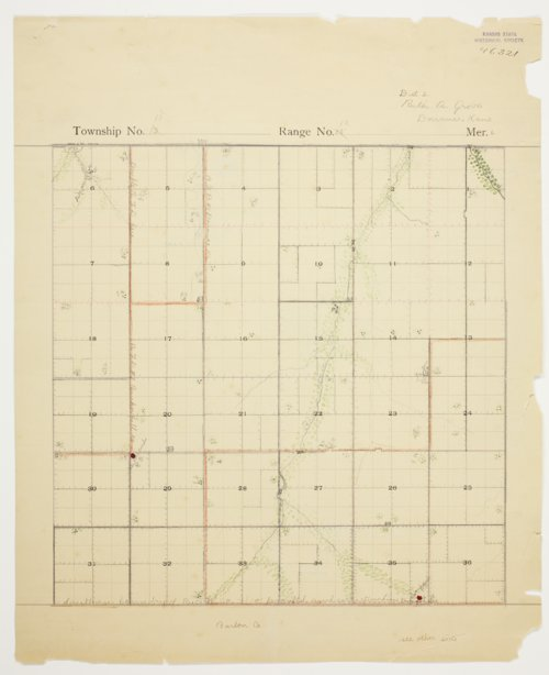 Ruth Grove's map of Township 15 South, Range 12 West, Russell County - Page