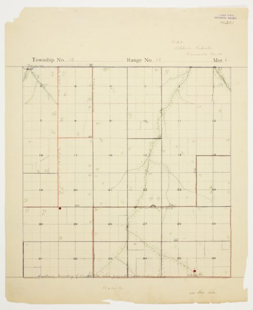 Sophia Kuhnle's map of Township 15 South, Range 12 West, Russell County - Page
