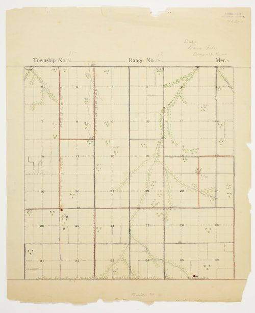 Dave File's map of Township 15 South, Range 12 West, Russell County - Page