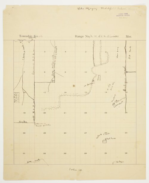 Katie Meyer's map of Township 15 South, Range 12 West, Russell County - Page