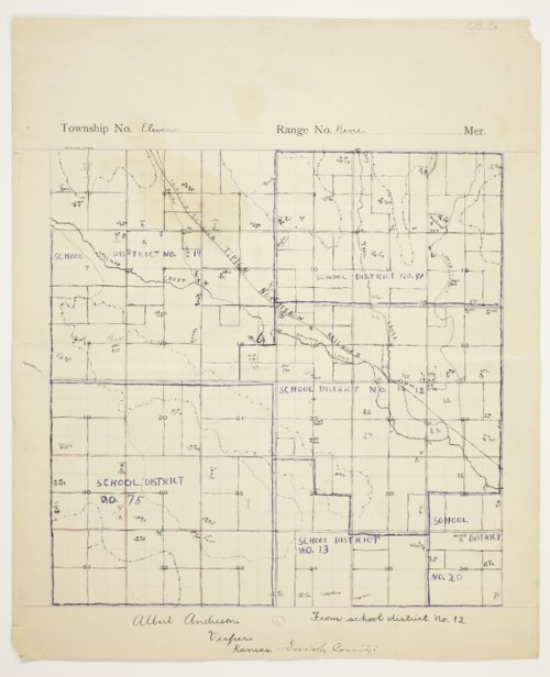 Albert Andreson's map of Township 11 South, Range 9 West, Lincoln County - Page