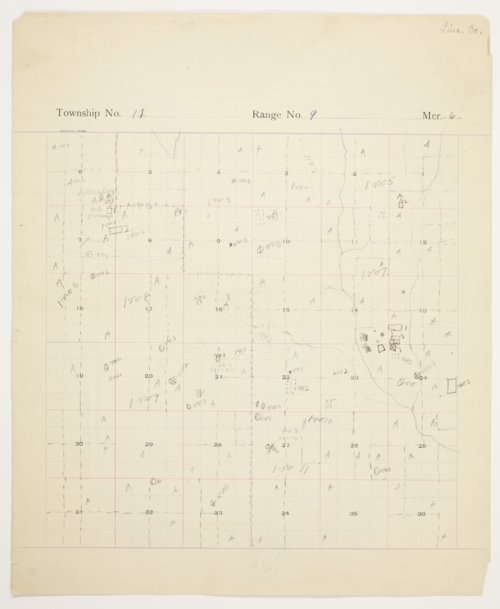 Willie Seibert's map of 11 South, Range 9 West, Lincoln County - Page