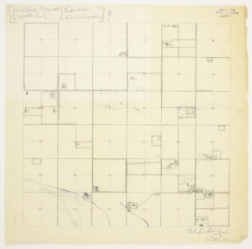 Axel Lindberg's map of Township 15 South, Range 42 West, Wallace County - Page