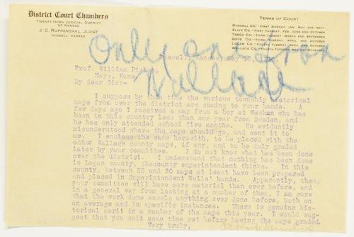 J. C. Ruppenthal to Professor William Picken - Page