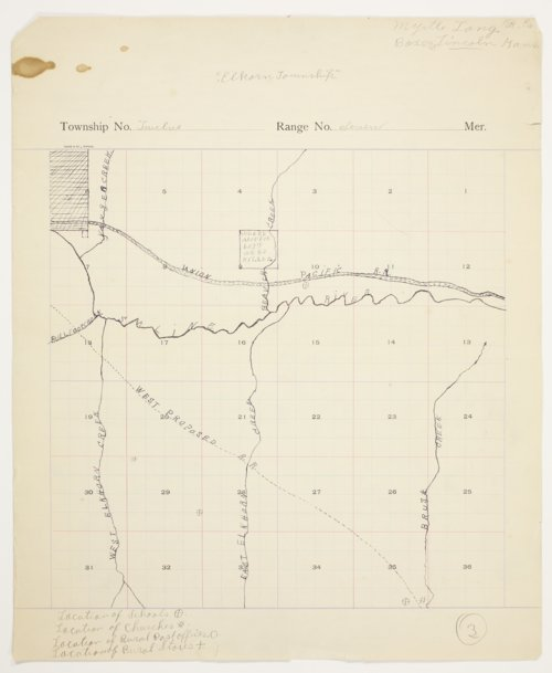 Myrtle Long's map of Elkorn [Elkhorn] Township, Lincoln County - Page