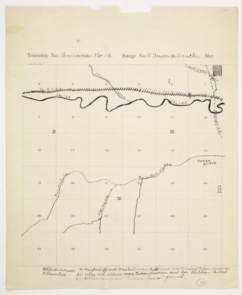 Clara Helfferich's map of Indiana Township, Lincoln County - Page