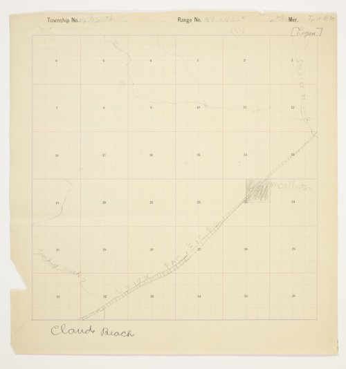 Claude Beach's map of Township 12 South, Range 37 West, Logan County - Page