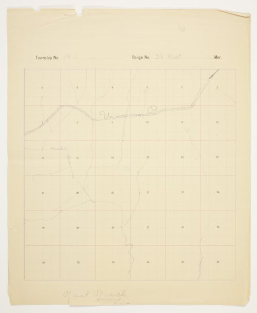 Paul Beach's map of Township 12 South, Range 36 West, Logan County - Page