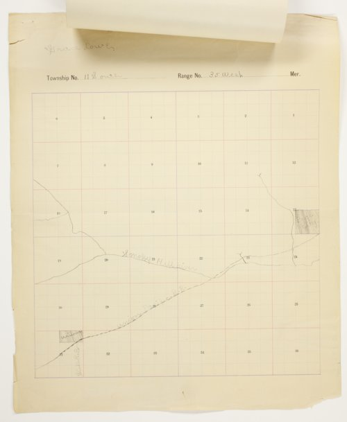 Grace Lowe's map of Township 11 South, Range 35 West, Logan County - Page