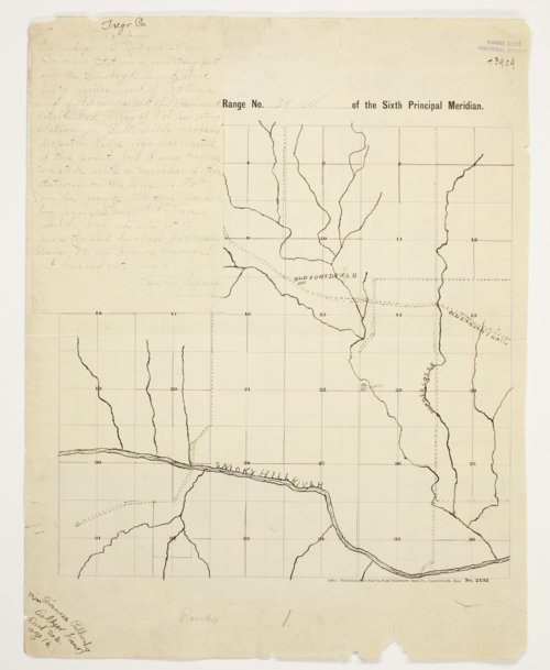 Fannie Palkovsky's map of Township 14 South, Range 24 West, Trego County - Page