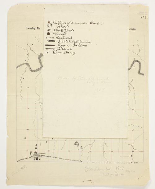 Otis Schwanbeck's map of Township 11 South, Range 24 West, Trego County - Page