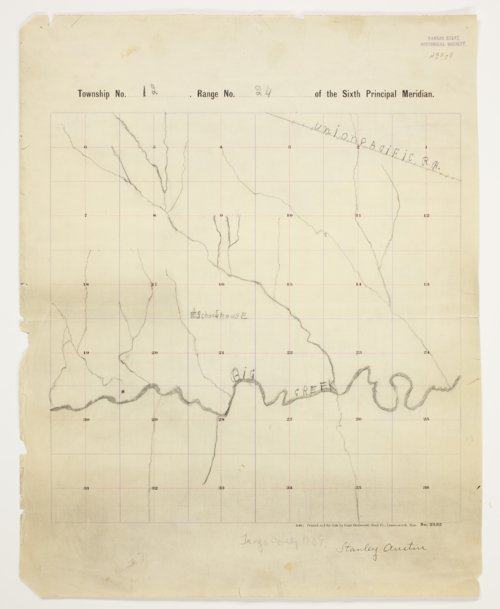 Stanley Austin's map of Township 12 South, Range 24 West, Trego County - Page