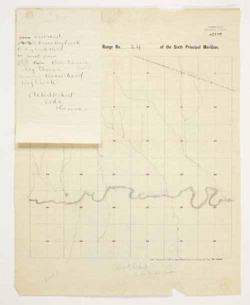 Albert Krhut's map of Township 12 South, Range 24 West, Trego County - Page