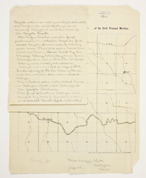 Maggie Hitt's map of Township 12 South, Range 25 West, Trego County - Page