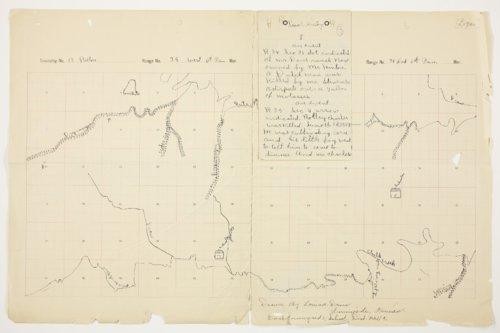 Louisa Davis' map of Paxton Township, Logan county - Page
