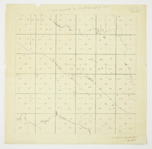 William Boxberger's map of Township 14 South, Range 14 West, Russell County - Page
