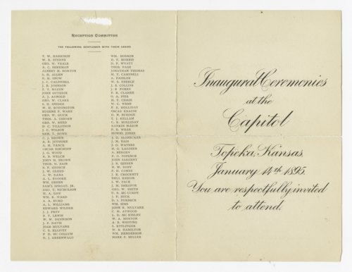 Program for Governor Edmund Needham Morrill's inauguration - Page