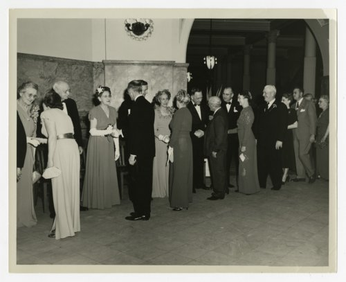 Reception line at Governor Frank Carlson's inauguration - Page