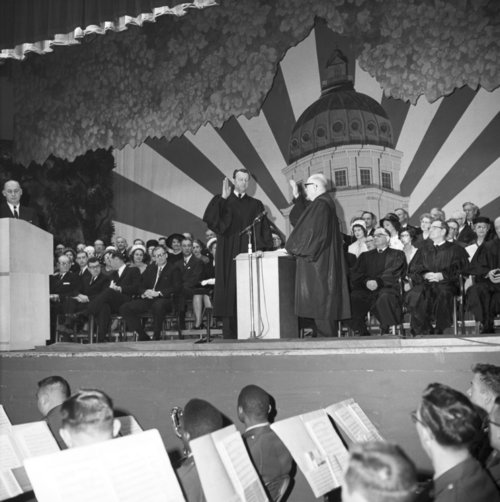 Governor John A. Anderson, Jr. taking the oath of office - Page